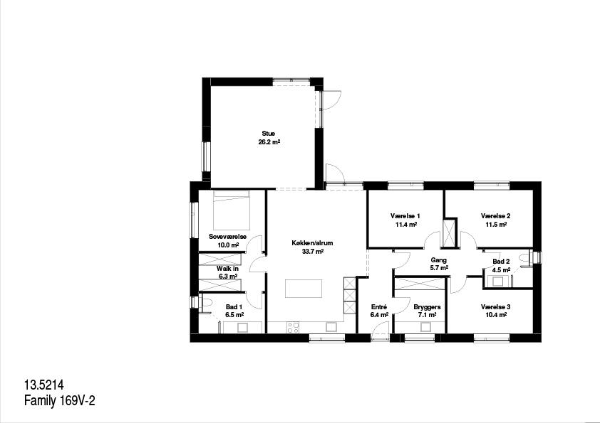 Family 169 kvm FBA Huse plantegning.