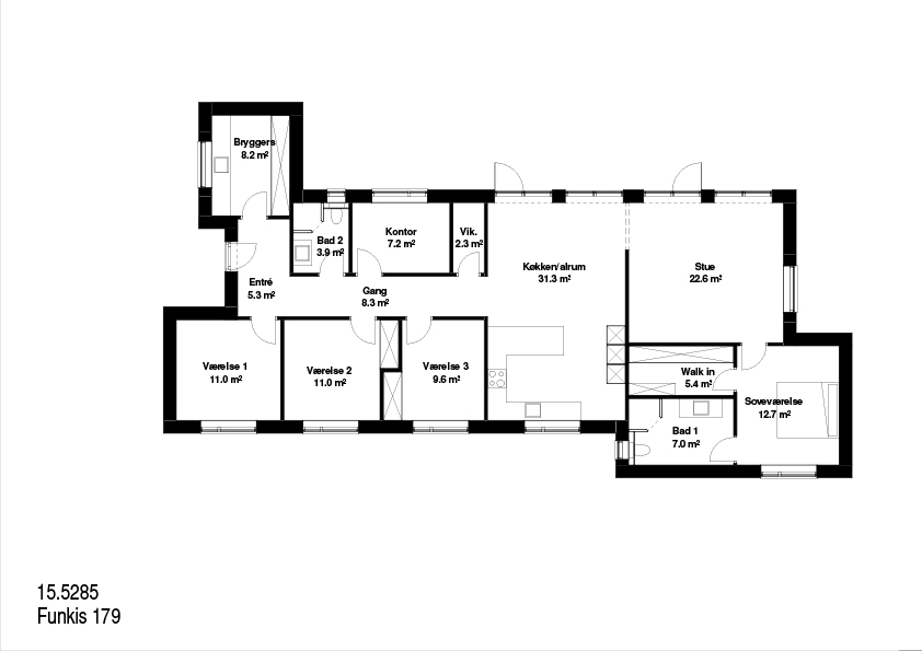 Funkis FBA hus 179kvm plantegning