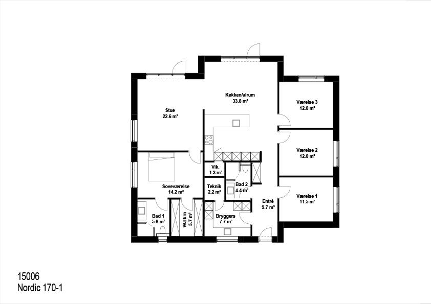Nordic hus 170 kvm plantegning